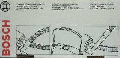 Sonderzubehör zum Bosch Handstaubsauger BHS / modula 3...