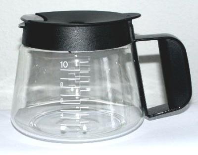 Ersatz 10-Tassen-Glaskanne Braun