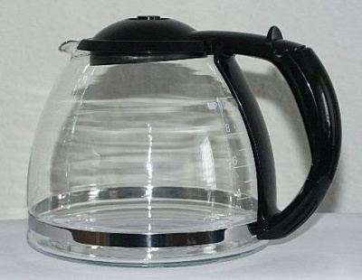 Ersatz -Glaskanne 10 Tassen schwarz